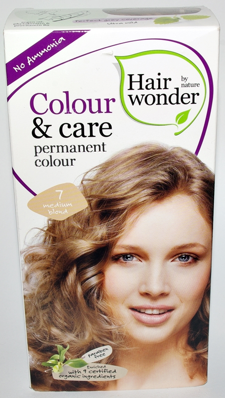 Farba do włosów Hairwonder, Colour&Care - 7 Medium Blond