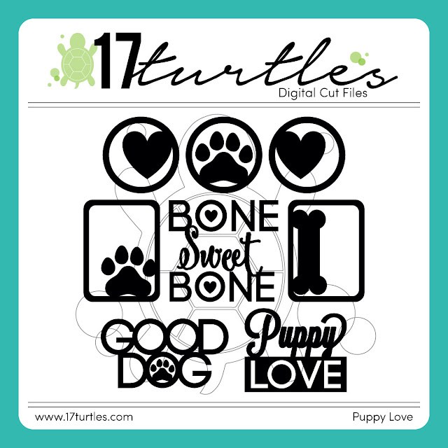 Puppy Love Free Digital Cut File by Juliana Michaels 17turtles