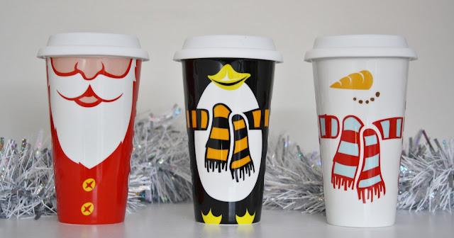 Costa Christmas Ceramic Cups