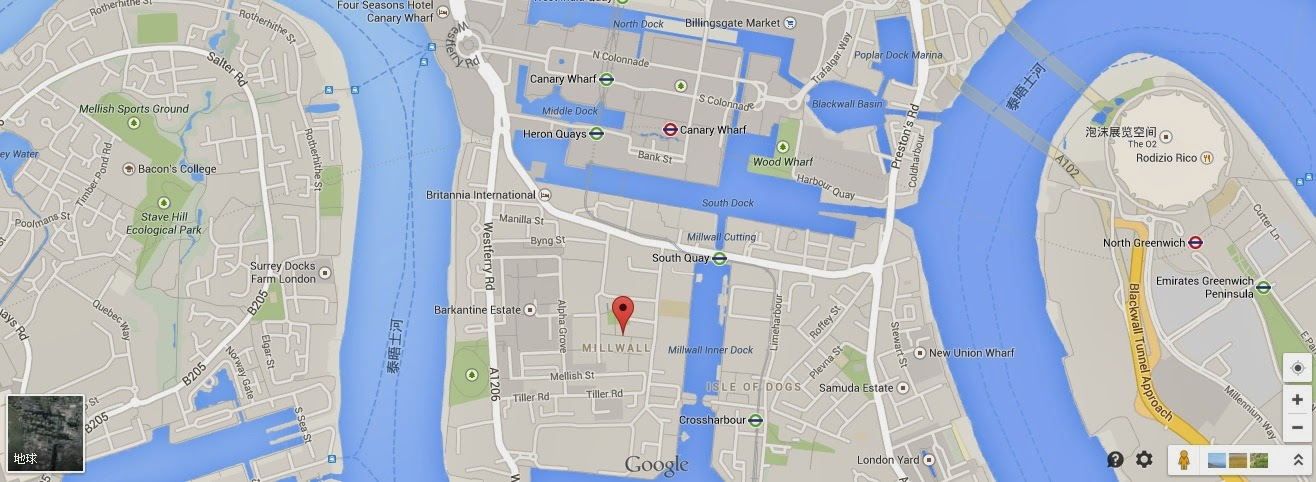 Canary Wharf 金絲雀碼頭地圖