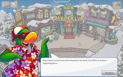 Club Penguin Extreme Paint Festival Mini-Party
