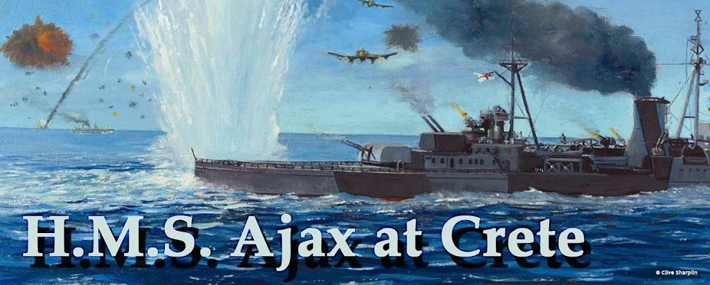 HMS Ajax at Crete