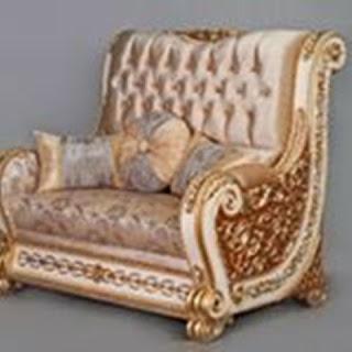 sofa duco putih, sofa goldleaf mewah,furniture mebel jati klasik,furniture classic jepara,code classic furniture A205