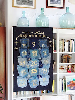 recycled denim jeans calendar tutorial