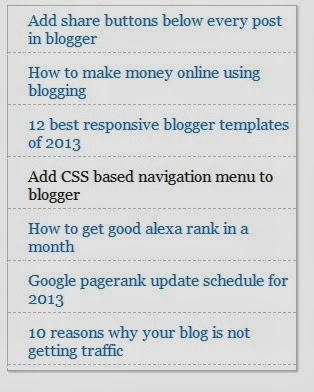 Popular Post Widget Blogger