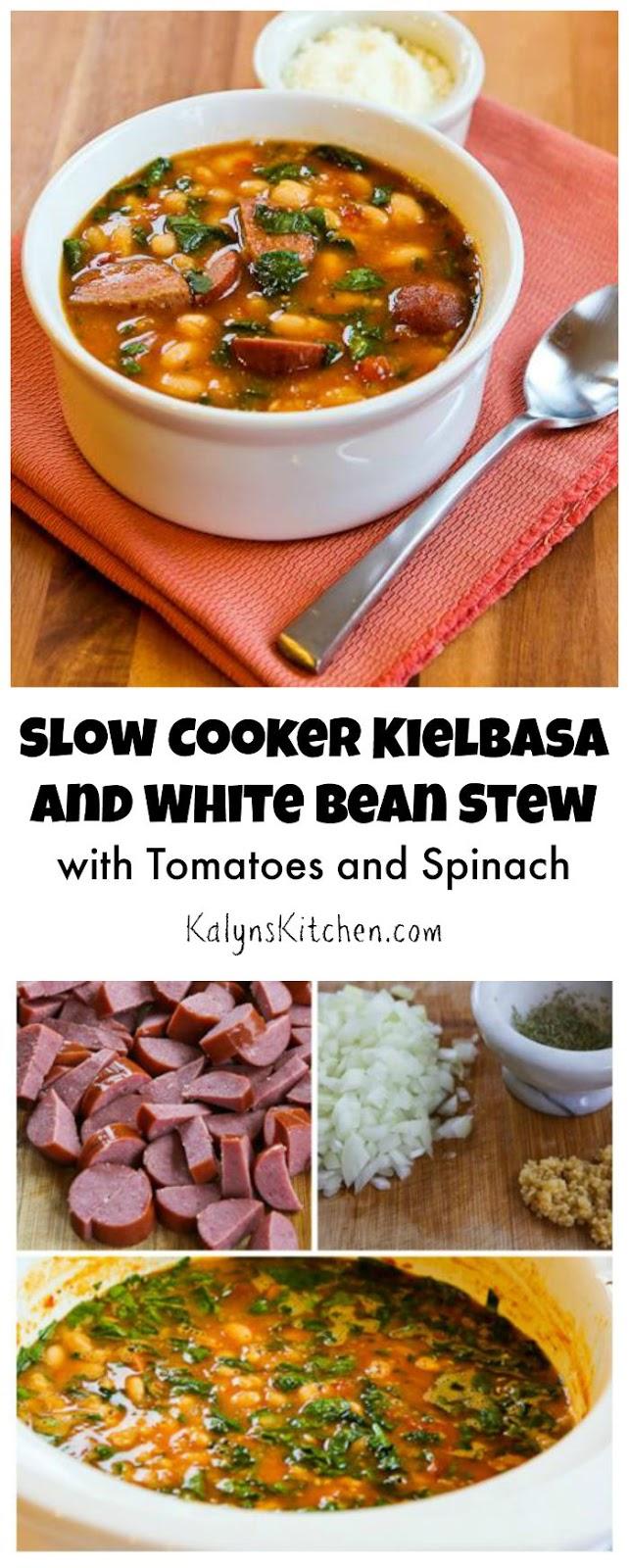 Kalyns Kitchen®Slow Cooker Kielbasa and White Bean Stew with