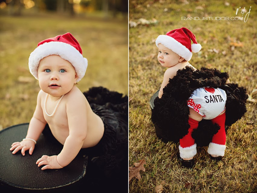 I Love Santa Bloomers Christmas Photography Pearland