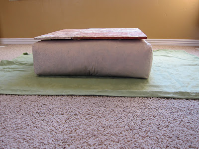 Do it yourself divas diy ottoman build your own from scratch we placed a board onto the cushion so that it would be able to support weight solutioingenieria Images