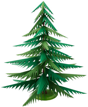 Paper Christmas Tree | Munchkins and Mayhem