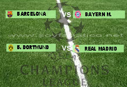Cruces Semifinales Champions League 2013