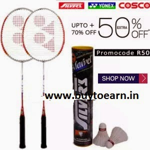 Paytm: Buy Top Badminton Brands Product upto Extra 35% cashback on Rs. 399