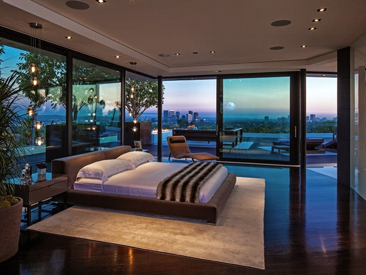 Bedroom in Perfect modern mansion in Beverly Hills