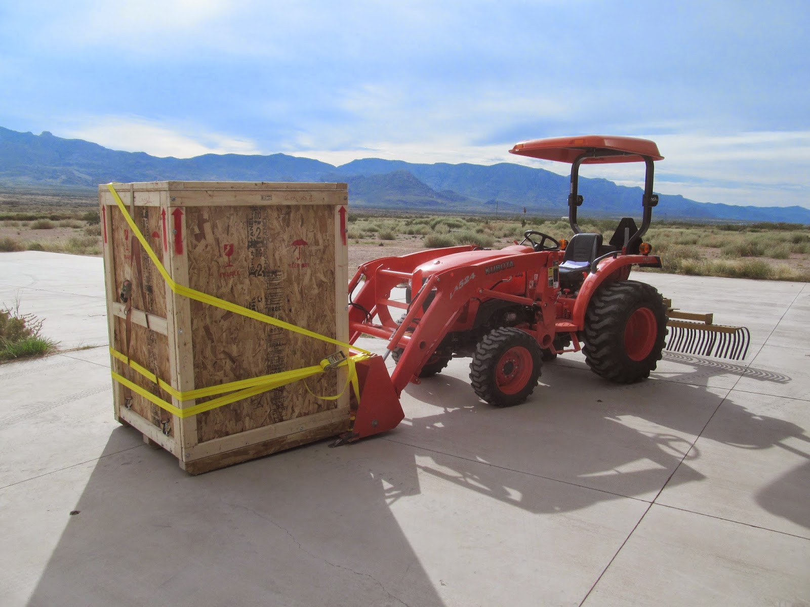 loading with a tractor