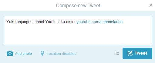 Cara Promosi Video YouTube di Twitter