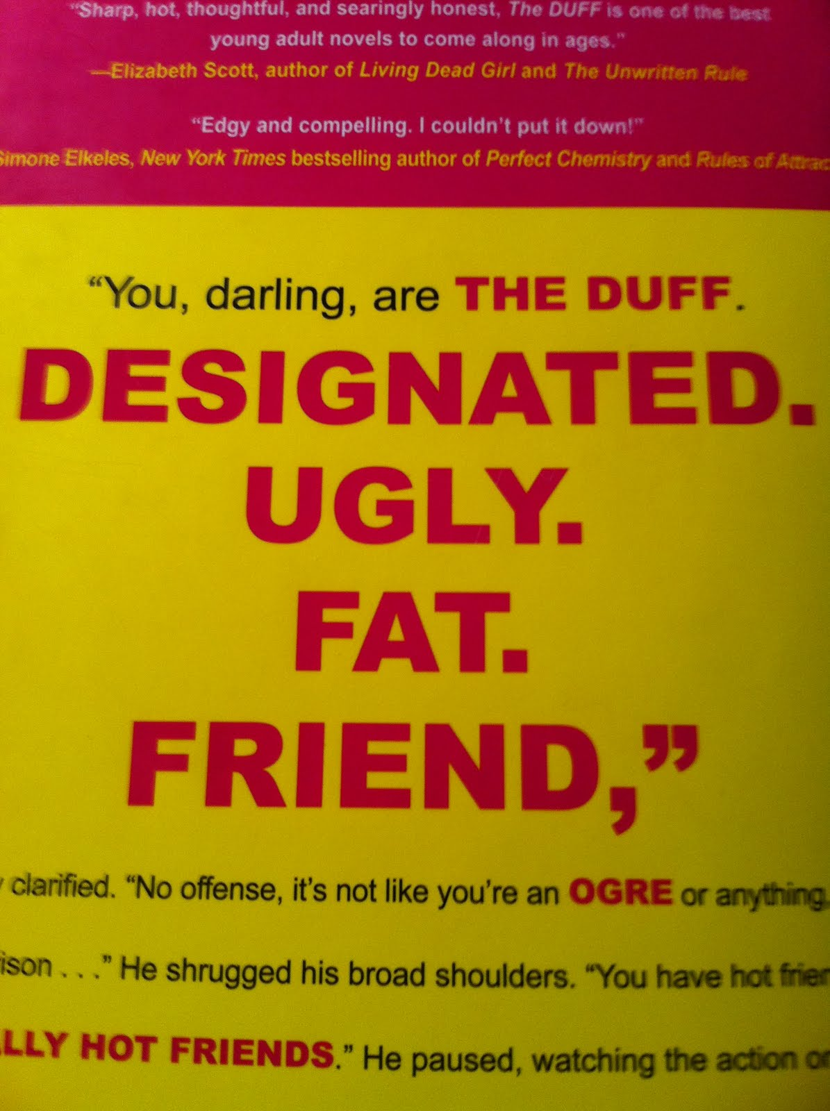 Young Adult Smash: Book Review: The DUFF (Designated Ugly ...