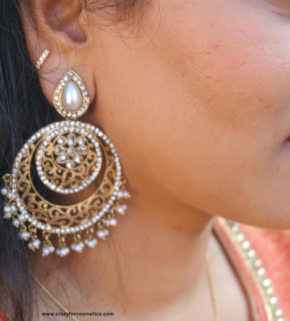 chandbali earrings how to wear