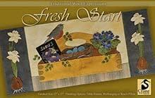 "Fresh Start Wool Applique Runner 12"" x 27"""