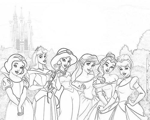 Dibujos Para Colorear De Princesas Disney