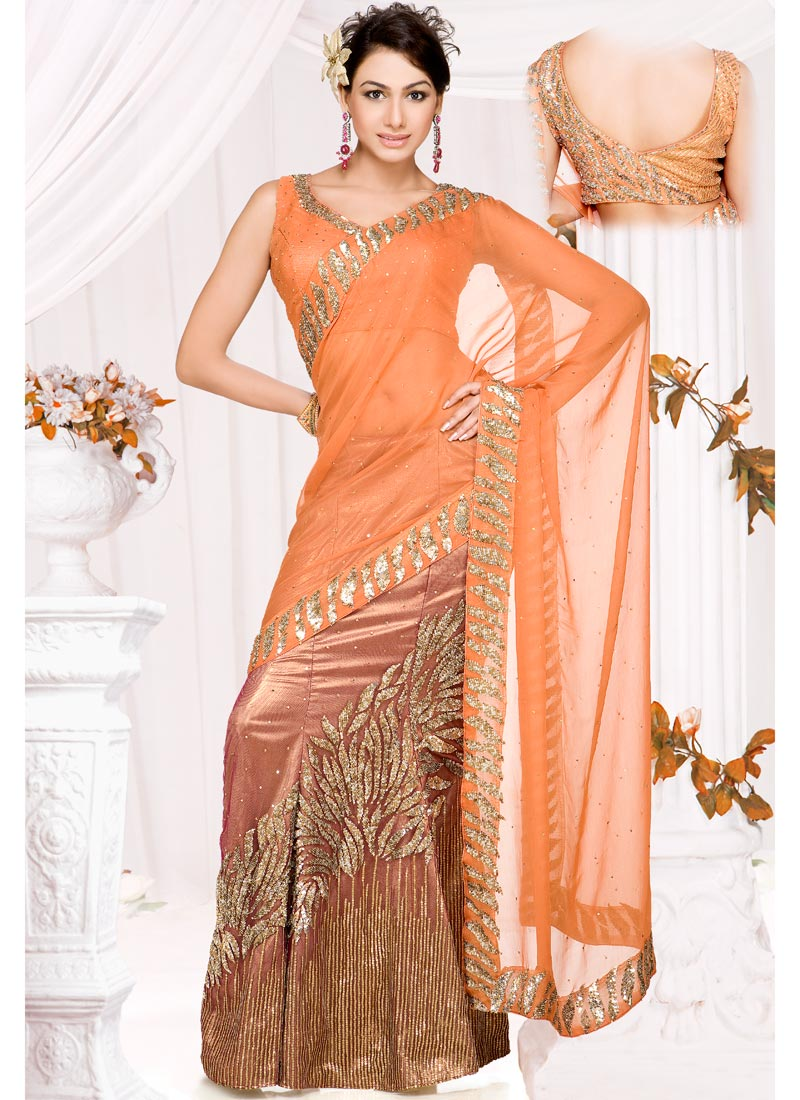 Indian Party Wear Saree Trendy Fashionable Dresses