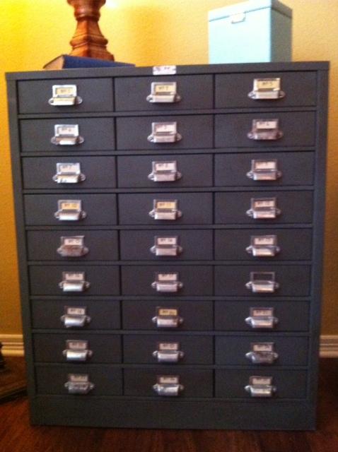 Metal cabinet / card catalog
