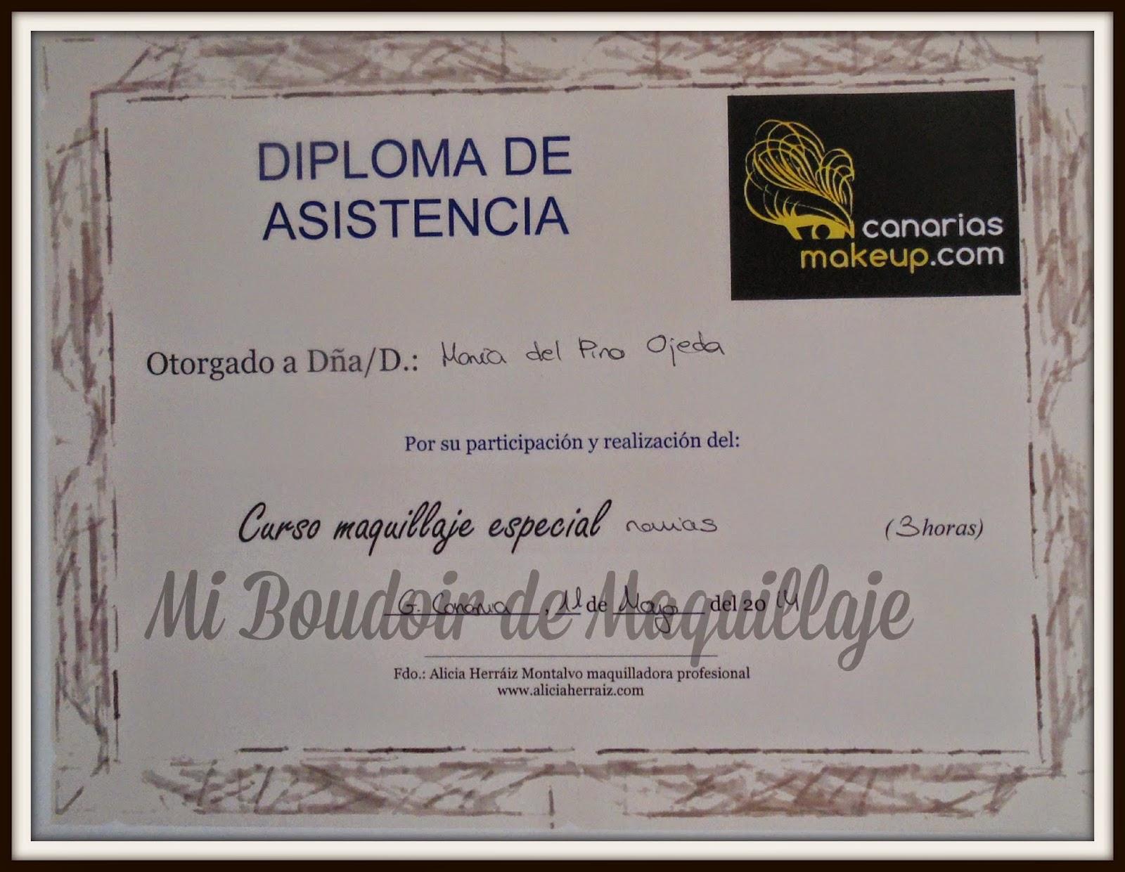 Diploma curso Alícia Herraiz