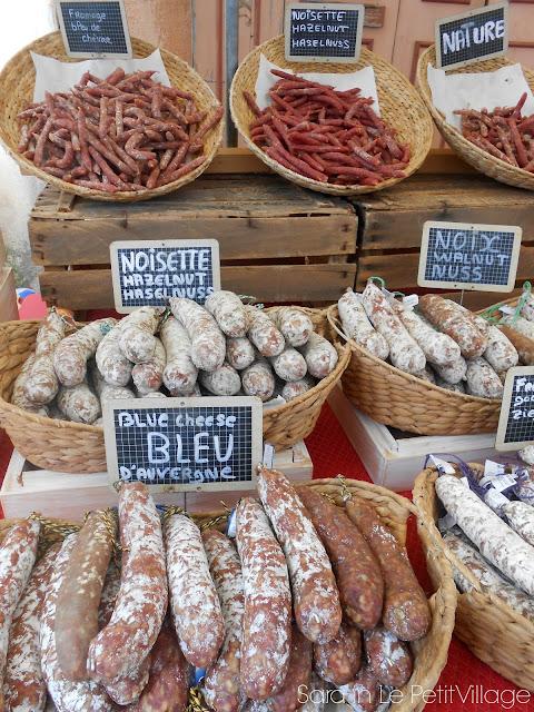 saucisson sec Apt market Provence France