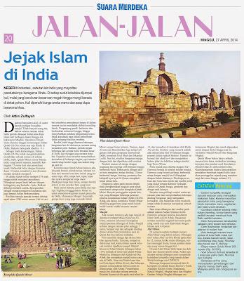 Artikel Travelling tayang di Media
