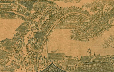 Zhang Zeduan QINGMING-ROLLE von Animation