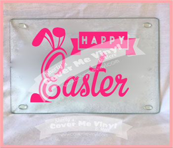 Happy Easter Square Cutting Board