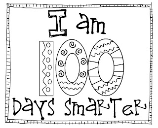 100 days of school coloring pages - totally terrific in texas january 2013