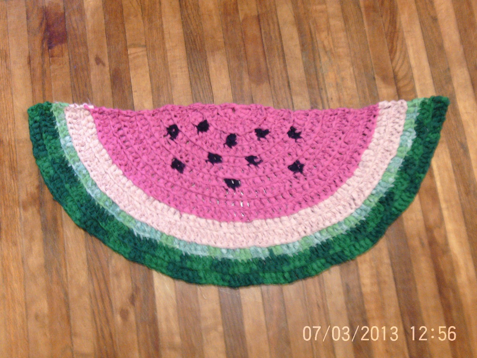 Watermelon Rag Rug