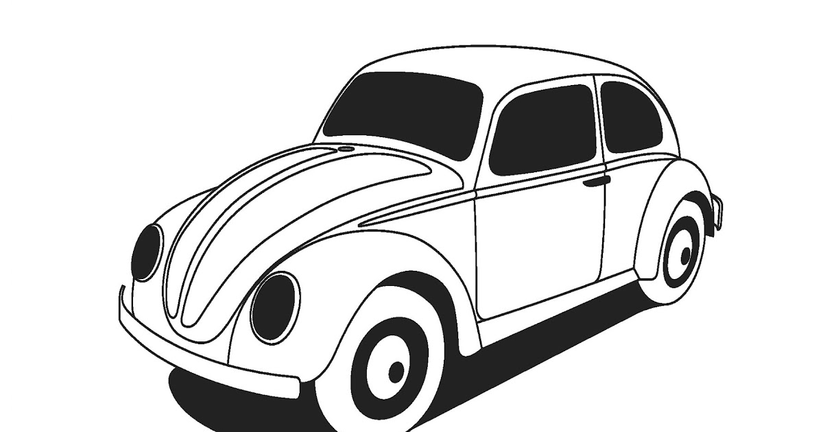 beetle clipart black and white