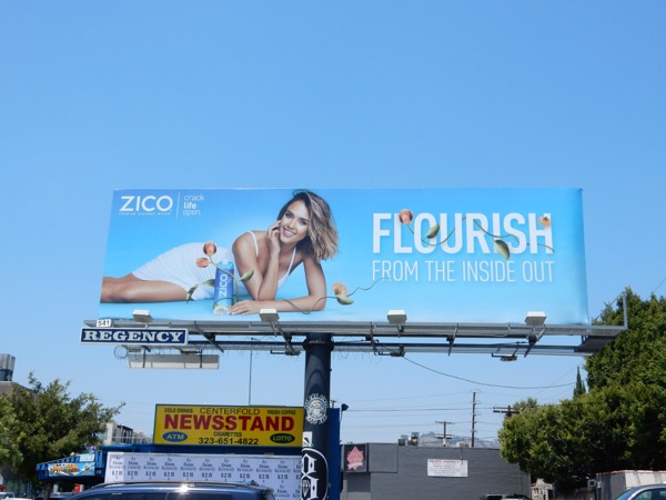 Jessica Alba Zico Flourish inside out billboard