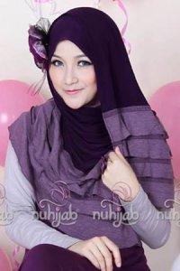 Nuhijab Rample Shawl (RS) - Purple (Toko Jilbab dan Busana Muslimah Terbaru)