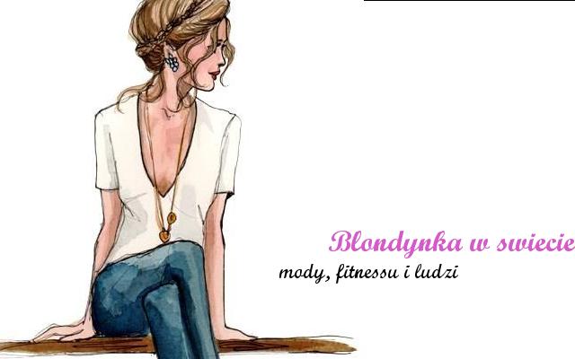 Blondynka w świecie mody, fitnesu i ludzi
