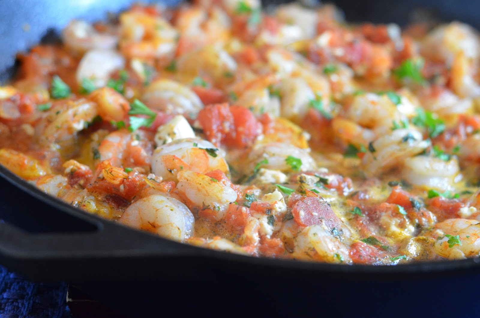 The Savvy Kitchen: Baked Shrimp in Tomato Feta Sauce ...