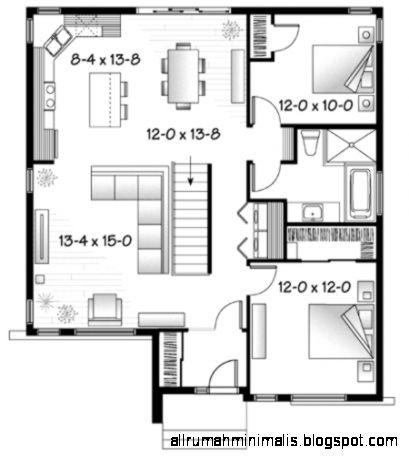 Sketsa Denah Rumah Minimalis simple  Cara Mendesain Rumah
