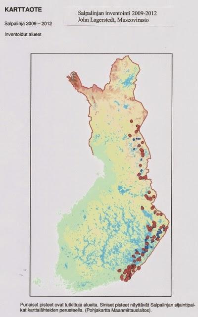 Salpalinjan toteutus, inventointikartta 2012
