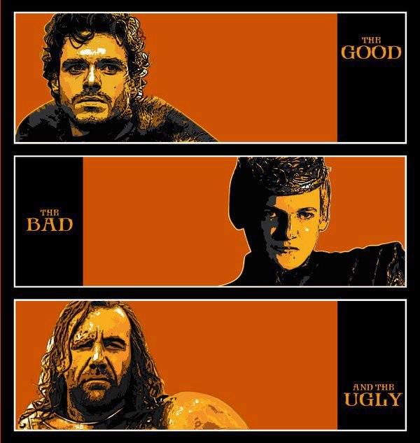 bueno feo malo robb joffrey sandor - Juego de Tronos en los siete reinos