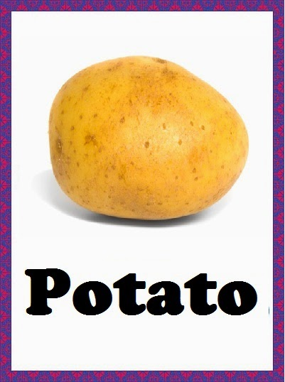 Kindergarten Worksheets Vegetables Flashcards Potato