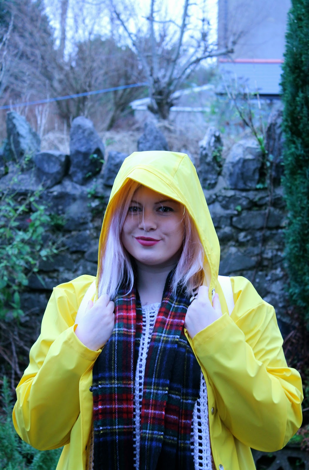 rains raincoat mac yellow blogger