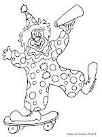 Gambar Mewarnai Badut Sirkus