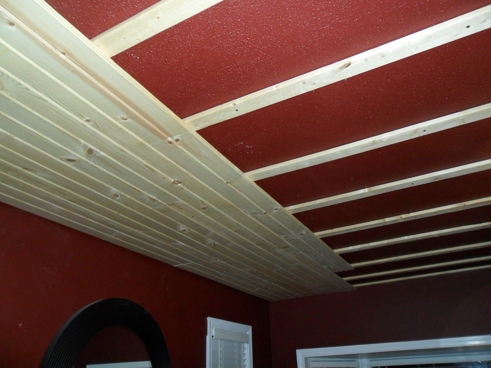 DIY Survival Guide Goodbye Ugly Popcorn Ceiling - Can you put beadboard over popcorn ceiling