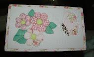 Caixa Flores e Borboleta - Rosa