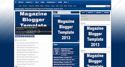Magazine Blogger Template 2013