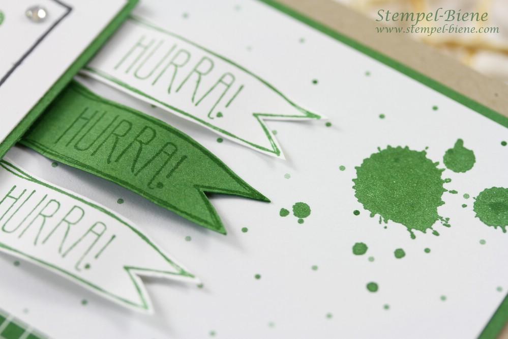 Stampin Up Cheerful Critters, Geburtstagskarte Jungs, Stampin Up Jahreskatalog 2016, Stempel-biene, Match the Sketch