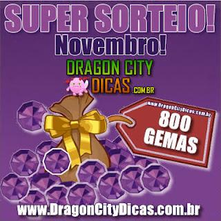 Super Sorteio - Concorra à 800 Gemas - Novembro