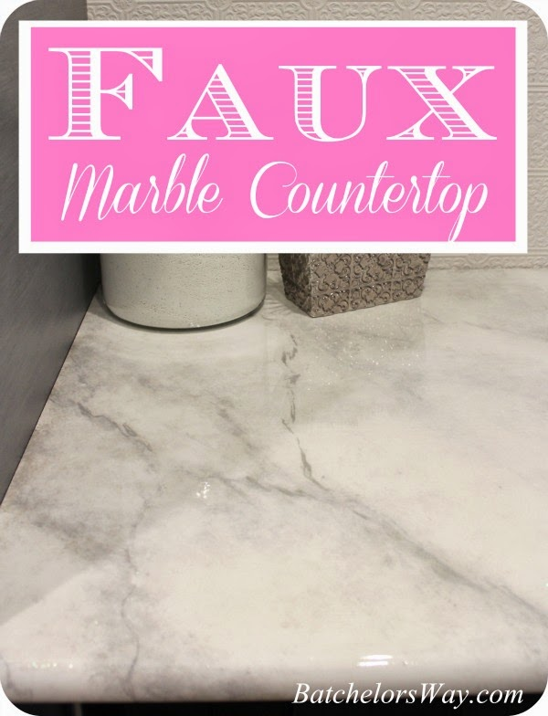 Paint Countertop Faux Marble : Batchelors Way: Laundry Room - DIY Countertops Part 2 - Faux Painting