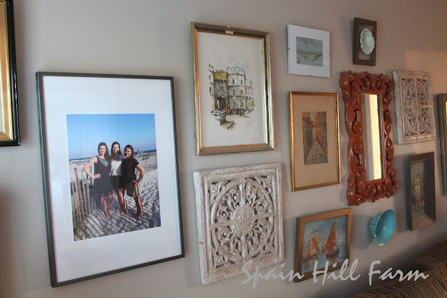 gallery wall ideas using more than pictures