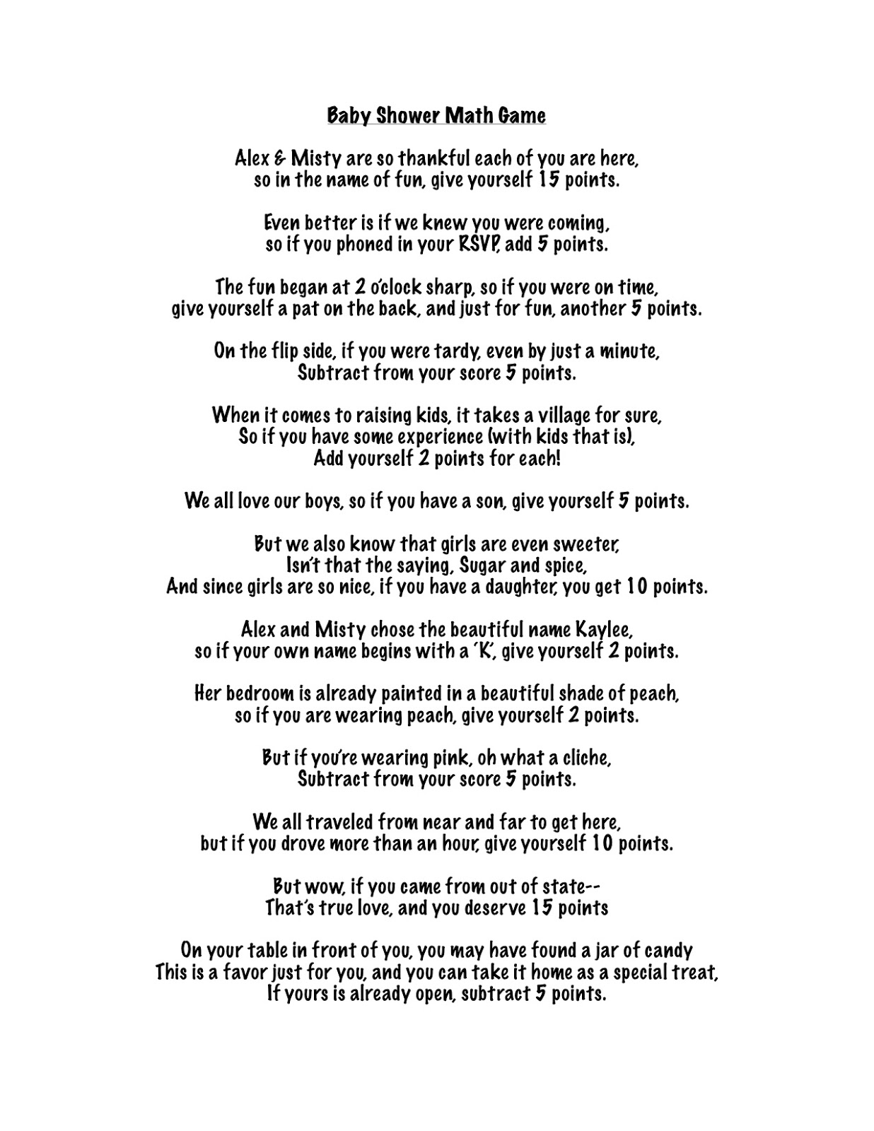 Wedding Shower Pass The Gift Poem : Download image Baby Shower Poem Game Pass The Gift PC, Android, iPhone ...